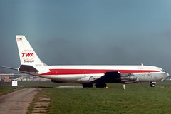 N5774T Boeing 707-331C TWA Trans World Airlines Cargojet (pslg05896) Tags: n5774t boeing707 twa transworldairlines lhr egll london heathrow