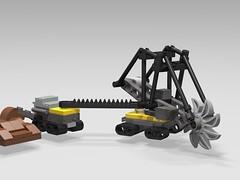 Bucket-wheel excavator - A stud.io study (microairliner) Tags: microscale micro model moc bwe bucket wheel excavator lego
