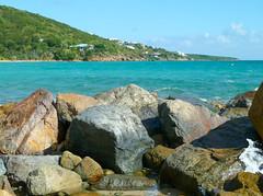 St. Thomas coast (Lena and Igor) Tags: us usa travel virginislands stthomas island sea coast rocks ocean water clouds sunshine landscape scenic surf panasonic dmc pointandshoot