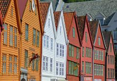 Bryggen, Norway (Neal J.Wilson) Tags: houses tree norway buildings nikon colours oldbuildings unescoworldheritagesite bergen scandinavia d3200