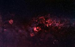 Cygnus area - HaRGB (guillaume_lhoste) Tags: sky elephant canon stars space wide pelican astro crescent nebula astrophotography 7d northamerica astronomy ha milky sadr constellation cls milkyway elephanttrunk deneb cygnus widefield northamericanebula deepsky halpha veilnebula narrowband crescentnebula astrotrac astronomik astrodon elephanttrunknebula