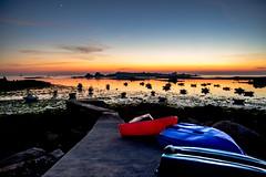 la cale du port (fubu.flemm) Tags: ocean sea panorama mer landscape seaside bretagne bateaux paysage soir cale océan maréebasse argenton