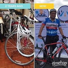 ครบรอบสองปี วันที่เริ่มขี่จักรยานอย่างจริงจัง จำได้ว่าขอให้ @phuphuphuphuphu พาไปซื้อจักรยานมือสองที่ร้านแถวๆเชียงกงจุฬา ทุกวันนี้คันนั้นขายต่อน้องที่รู้จักไปแล้ว แต่ยังไม่เลิกปั่น แถมบ้าพลังมากกว่าเดิมอีก ฮ่าๆ #cyclingdaily