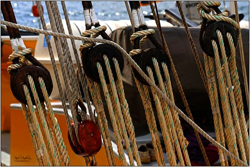 Rigging and Pulleys, Tall Ships, Belfast, Northern Ireland 2015