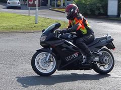 Alistair on the Honda VFR (Ayr Classic Motorcycle Club) Tags: classic bike club vintage scotland scottish moto motorcycle ayr veteran velo motorrad