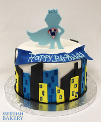 Superhero Skyline (Swedish Bakery Chicago) Tags: cakes cake skyline superhero fondant superkid swedishbakery