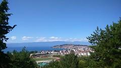 Ohrid in September (nazmije.d) Tags: city trees summer sky lake landscape sunny september ohrid 2015 ezero pejsaz ohridsko septemvri velestovo soncevo