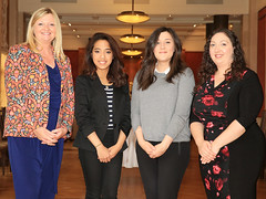Nicola Bothwell, Mariele De Guzman, Jane Donaldson and Christine Watson at the WorldHost Celebration and Certificate Presentation