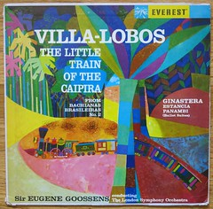 Villa-Lobos - The Little Train of the Caipira - 1960 (hmdavid) Tags: london art illustration train vintage little album stereo cover orchestra lp record everest symphony caipira villalobos 1960 midcentury