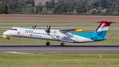 LX-LGG Luxair DHC8 @ VIE (Thomas Ranner) Tags: vienna wien austria österreich takeoff bombardier luxair schwechat dhc8 viennaairport lxlgg