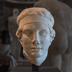 Diadoumenos Head - II (egisto.sani) Tags: sculpture paris art classic statue greek arte louvre du classical marble period statua parigi greca scultura marmo polykleitos muse policleto diadoumenos diadumeno louvre