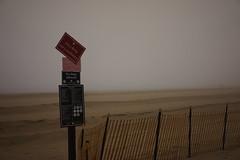 Beach Signs On A Foggy Day (MartMart1413) Tags: sign beach fog fence  signe signode     recinzione  spiaggia  wird sar cerca cercade playa sinal zaun    sera    praia  strand zeichen  plage segno clture ser  carlzeiss