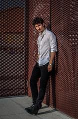 Toms (MattDeLuise) Tags: boy portrait man guy shirt intense eyes dynamic natural actor