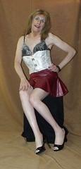 Jan 2016 (71) (Rachel Carmina) Tags: cd tv ts tg tgirl tgurl femboi trap trans transgender crossdresser transvestite legs heels lingerie corset