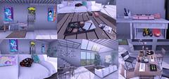 My Summer House (living room) (ame Kill/Shaterica Wulluf) Tags: storessoy trompeloeli nomad toro bazaar 8f8mutresse oyasumi dustbunny pizza tresblah hideki ionic andmanymore grimes art home decor decorating decorated house concrete japanese garden fetch