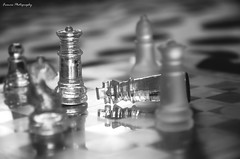Happily Ever After - The Queen of a Gentleman (souravmondal786) Tags: blackandwhite blackandwhitephotography bw storytelling marriage gentleman chess chessboard