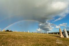 La  magie  opr dans la valle des Saints (http://www.jeromlphotos.fr) Tags: lavalledessaints bretagne britany breizh arcenciel rainbow arts magic magique statues finistere 29 cloudsstormssunsetssunrises explore