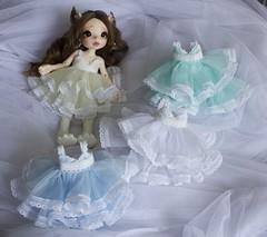 Dresses (~Akara~) Tags: bjd ball jointed doll fairyland fairy land fl realfee real fee rlf mari custom faceup face up dress dresses handmade etsy lace