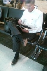 Older Gentleman 2 (mansoles) Tags: public professional loafers older airport attractive
