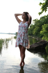 IMG_0958 (joshsagar) Tags: photoshoot pictures girl dress road smiles canon twirl golf course dab log water photography photos river arkansas central back roads sunset trees ar ark t5
