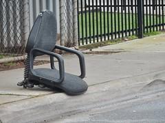 Broken Chair in the Gutter (mikecogh) Tags: kilkenny officechair legless broken gutter rubbish