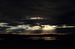 Sun rays (Maia MacGilp) Tags: sunset eigg scotland rum