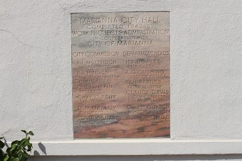 Marianna City Hall WPA corner stone