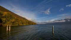 Lac du Bourget vu de l'abbaye de Hautecombe (standdeb) Tags: abbaye hautecombe bourgetdulac lac eau nature paysage ponton nuages ciel canon 7d sigma 816