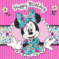 []LINE08 (sutaemon) Tags: sticker message    disney happy birthday minnie mouse