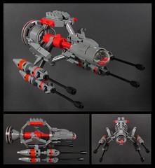 """""""Bare Bones"""" (Karf Oohlu) Tags: lego moc frog frogscale scifi gunfighter spaceship dogfighter skeletonframe"""