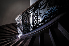 taking the stairs (PenelopeEfstop) Tags: chateaulaurier ottawa architecture historicalarchitecture hotel shadow spiral staircase