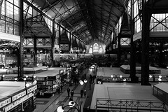 Budapest Central Market (John Soqquadro) Tags: budapest market mercato centralmarket blackwhite city afternoon hungary ungheria buildings