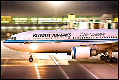 Goodnight Kuwait (Bill Wilt) Tags: kuwait airways kuwaitairways dubai flying airlines airbus a300 a300600 spotting photography night exposure travel traveling explore explored middle east uae united arab emirates a380 airliner flight mood aviation airplane jet plane canon 7d hdr passenger classic photoshop lightroom summer winter 9kamc fly sky ground terminal airport dxb international asia flickr 2015