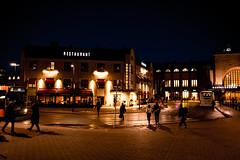 VLTAVA (Jori Samonen) Tags: building czech restaurant vltava central railway station bus people evening dark light kluuvi helsinki finland nikon d3200 180550 mm f3556