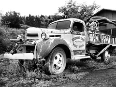 Madrid Fire Truck (MROEDEL) Tags: roedel madridminer madrid monochrome new mexico truck museum old dodge
