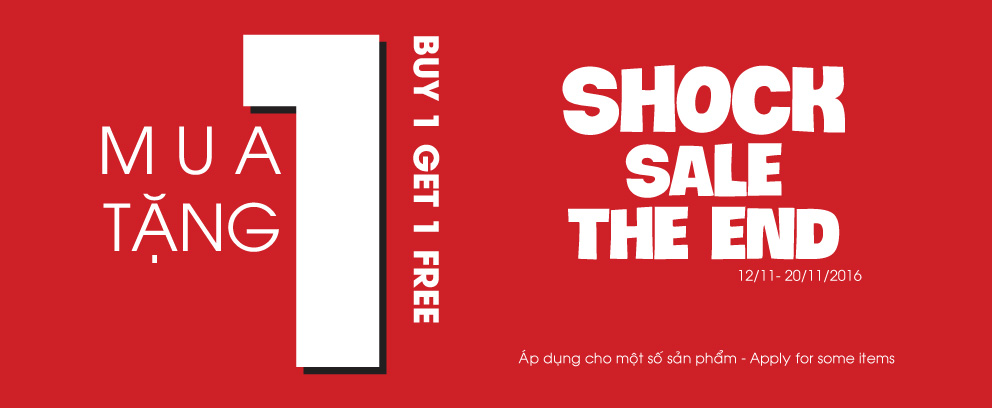 SHOCK SALE THE END