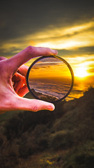 Look through to see clearly (hunterrayl) Tags: nd filter hand circle sunset vibes clearly