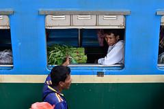 Myanmar 2016 (cartramill) Tags: myanmar yangon markets train locals blue