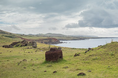 Far from the moai quarry, the Pukao were made (watershed96) Tags: punapau rapanui orongo