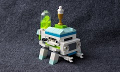 Ice Cream Koma (Deltassius) Tags: mfz mf0 koma lego space scifi ice cream truck with legs frame mech mecha robot microscale