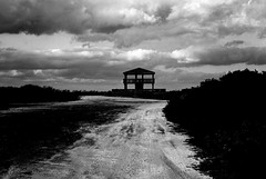 R1-022-9A (David Swift Photography Thanks for 19 million view) Tags: davidswiftphotography brigantinenj newjersey gazebo lookout dirtroads clouds 35mm film beaches leicaminilux ilfordxp2