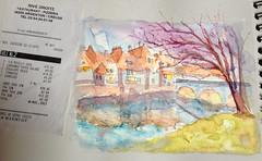 Argenton (Pamplemuss) Tags: watercolor watercolorsketch watecolor aquarelle argenton france fastdrawing francesketch