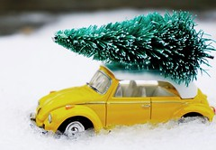 O Christmas tree, O Christmas tree... (katerha) Tags: macromondays beatlesbeetles volkswagon car christmastree volkswagenbeetle beetle yellow
