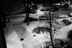 White Night (Explore) (brandsvig) Tags: november 2016 malm snow sn sweden skne bw augustenborg night natt lx7 lumixlx7 winter vinter sverige explore 161118 377