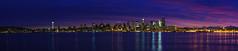 Seattle Sunrise Pano from Alki Zeiss (www.mikereidphotography.com) Tags: seattle sunrise panorama alki zeiss 85mm otus washington northwest water reflection sky clouds city cityscape