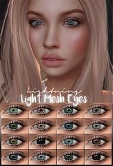- Lightning Store - (Niah Ren) Tags: eyes mesh lightning shop shopping appearel blonde blue grey black brown aquamarine turquoise green lightbrown colors woman women sl secondlife