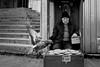 Pigeon attack - Istanbul, Eminonu (Tilemachos Papadopoulos) Tags: qoq mosque winter turkey yenicamii urban fuji fujifilm fujinon istanbul mono monochrome people street pigeon xt10 candid bw blackandwhite mirrorless