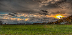 skylight (stevefge) Tags: beuningen hdr fields farm nederland netherlands nederlandvandaag reflectyourworld sky sunset sundown cloud panorama