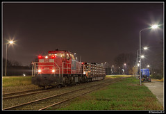 DBC 6504 - 62524 (Spoorpunt.nl) Tags: db cargo dbc 6504 vlaamse reus trein 62524 bediening stamlijn raccordement zwijndrecht groote lindt rbps wagon van leeuwen buizen 30 november 2016 kreekweg