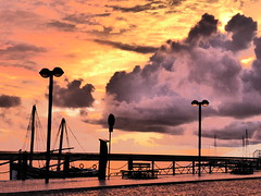 Late November sunset, Olho (cyclingshepherd) Tags: 2016 november portugal algarve olhao olho sunset sundown bomsucesso waterfront caique lampposts sun sky cloud clouds barco boat colour color parkingmeter caque